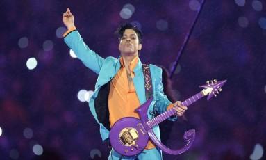 Apresentação de Prince no intervalo do Super Bowl, em 2007 Foto: CHRIS O'MEARA / AP