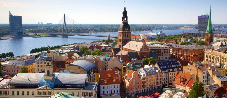 Vista aérea de Riga, a capital da Letônia: pequena, organizada e barata Foto: Juarez Becoza