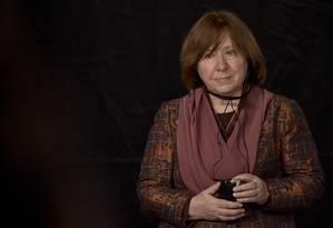 A escritora e jornalista bielorrussa Svetlana Aleksiévtich Foto: AFP/GUILLERMO LEGARIA