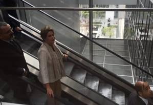 Presidente Dilma Rousseff no Museu de Arte Moderna de Nova York Foto: Reprodução / Instagram