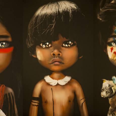 Bonecos da série Toy Manifesto, criados por Juliana Helcer Foto: Divulgação