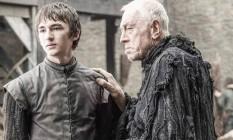 Isaac Hempstead Wright e Max von Sydow em cena da sexta temporada de 'Game of Thrones' Foto: Divulgação