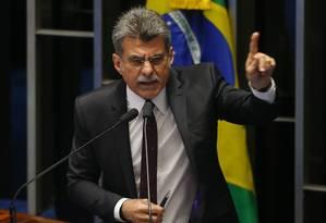 O senador Romero Jucá Foto: Ailton Freitas/ Agência O Globo