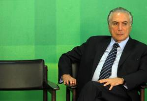 O vice-presidente Michel Temer Foto: Givaldo Barbosa/ Agência O Globo