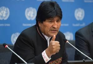 Evo Morales: teste de paternidade Foto: DON EMMERT / AFP