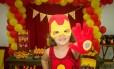 Marina em sua 'superfesta' de 4 anos