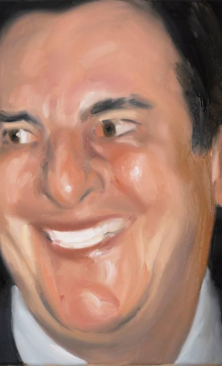 O senador Fernando Collor de Mello (PTB-AL), retratado pelo artista Gabriel Giucci Foto: Leandro Viana / Agência O Globo