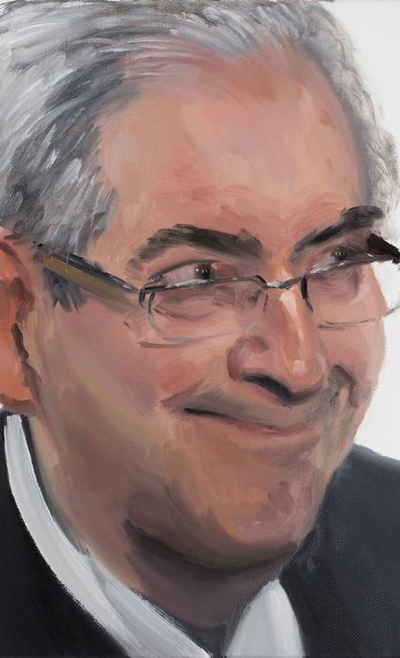 O presidente da Câmara dos Deputados, Eduardo Cunha (PMDB-RJ), retratado por Gabriel Giucci Foto: Reprodução