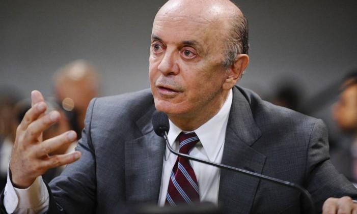 Senador José Serra (PSDB-SP) Foto: Edilson Rodrigues / Edilson Rodrigues/Agência Senado