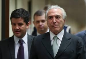 O vice-presidente Michel Temer Foto: André Coelho / Agência O Globo / 25-4-2016