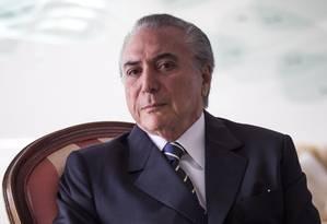 Entrevista com o Vice Presidente Michel Temer Foto: André Coelho / Agência O Globo