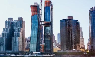 Construção de imóveis nos EUA Foto: Chris Goodney / Bloomberg