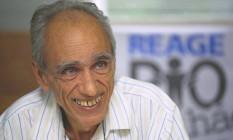 Reconhecimento. Herbert de Souza recebeu da ONU o Prêmio Global 500, por seu trabalho pelo meio ambiente Foto: Anibal Philot 29/11/1995 / Agência O Globo