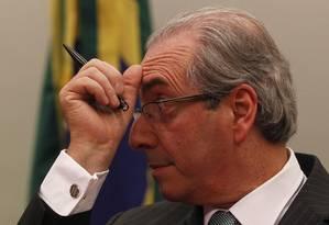 O presidente da Câmara, Eduardo Cunha (PMDB-RJ) Foto: Givaldo Barbosa / Arquivo O Globo / 7-4-16