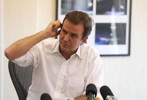 O prefeito do Rio, Eduardo Paes Foto: Fabiano Rocha / Agência O Globo / 17-3-2016