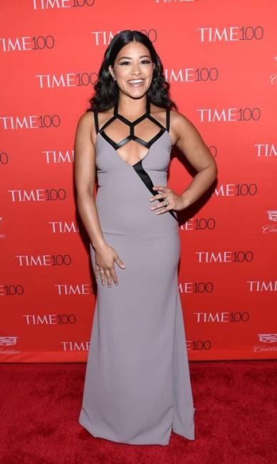 """A atriz Gina Rodriguez na festa da """"Time"""" Evan Agostini / Evan Agostini/Invision/AP"""