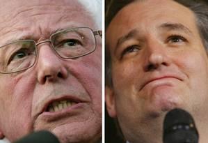 Combinação de fotos coloca Sanders, Cruz e Kasich lado a lado Foto: AP/REUTERS