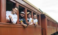 TremBier: Luiz César, Ricardo Martins, Rafael Pires e Rodolfo Mayer Foto: Divulgação/Thiago Morandi / - Thiago Morandi