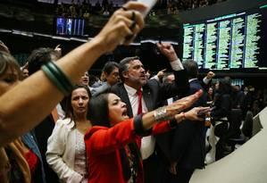 Sessão do Plenário é suspensa após decisão sobre comissões Foto: Ailton Freitas / Agência O Globo / 27-4-2016