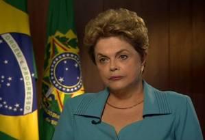 A presidente Dilma Rousseff, em entrevista à rede americana CNN Foto: Reprodução /Twitter