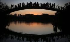 Pôr de sol. O Ibirapuera, eleito um dos melhores parques urbanos do mundo Foto: Marcos Alves