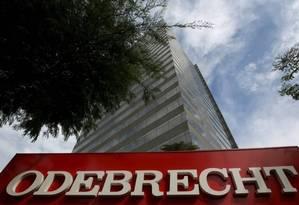 Fachada da Odebrecht Foto: Reuters