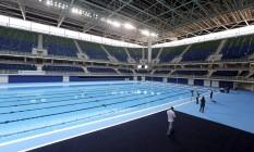 Estádio Aquático Olímpicoo, no Parque Olímpico Foto: Gabriel de Paiva / Agência O Globo