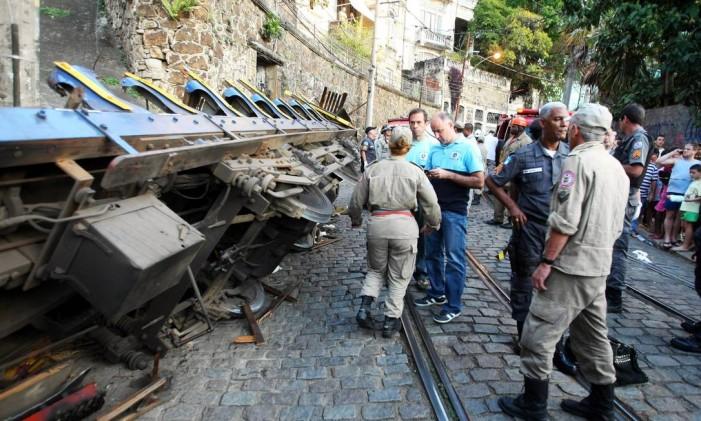 Acidente com o bonde de Santa Teresa 5 mortos Foto: Felipe Hanower 27-08-2011 / Agência O Globo
