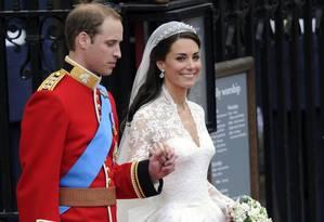 Conto de fadas. William casou-se com uma colega de faculdade, a plebeia Kate Middleton Foto: ODD ANDERSEN 29/12/2012 / AFP