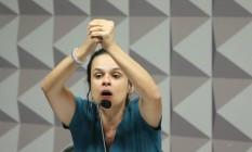Janaína Paschoal defende que Senado analise denúncia toda Foto: Andre Coelho / Agência O Globo