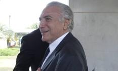 O vice presidente Michel Temer, em Brasília: ele chegou a SP na manhã desta sexta Foto: Givaldo Barbosa / Agência O Globo