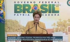 Dilma em cerimônia no Planalto Foto: Reprodução