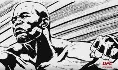 Anderson Silva, ex-campeão do UFC, é personagem de história em quadrinho que conta a trajetória dele dentro do MMA Foto: Reprodução