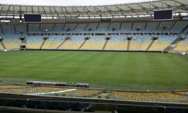 Apesar dos shows recentes, gramado do Maracanã não ficou desgastado para a final do Campeonato Carioca Foto: Agência Ferj