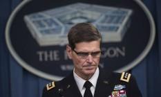 Em coletiva de imprensa, o general Joseph Votel explicou que a tripulação das Forças Armadas americanas não tinha lista de lugares protegidos na região de Kunduz Foto: Molly Riley / AP