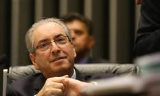 O presidente da Câmara, Eduardo Cunha Foto: Ailton Freitas / Agência O Globo 28/04/2016