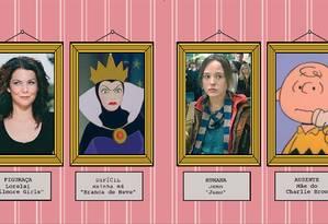Enquadradas. Exemplos dos principais tipos de mães Foto: André Mello / Agência O Globo