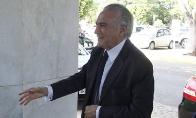 O vice-presidente Michel Temer Foto: Givaldo Barbosa / Agência O Globo / 27-4-2016