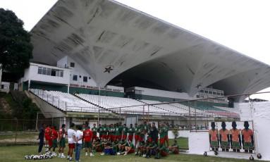 Estádio Luso-Brasileiro é a casa da Portuguesa da Ilha do Governador Foto: Gustavo Stephan / Agência O Globo