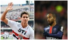 Ganso, do São Paulo, e Lucas Moura, do PSG, estão na pré-lista de convocados de Dunga para a disputa da Copa América nos EUA Foto: Levi Bianco (Brazil Photo Press) e AFP