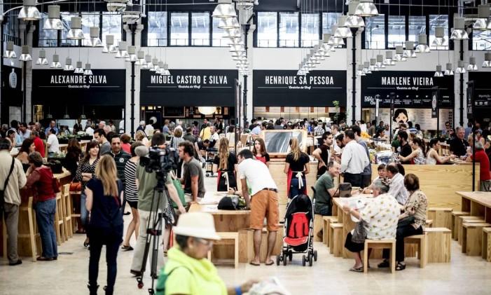Mercado da Ribeira, em Lisboa, Portugal Foto: Fernanda Dutra / O Globo