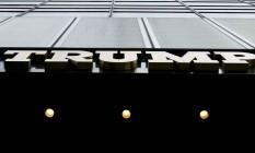 Entrada da Trump Tower, em Nova York Foto: SAM HODGSON / NYT