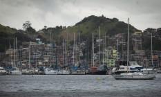 Barcos atracados em vagas molhadas do Clube Naval: piratas não poupam os cenários dos Jogos Olímpicos e têm sido vistos roubando embarcações à noite Foto: Analice Paron