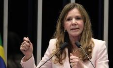 A senadora Vanessa Grazziotin (PCdoB-AM) Foto: Jorge William / Agência O Globo / 28-4-2016