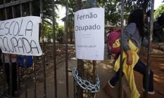 Escola estadual Fernão Dias em Pinheiros, Zona Oeste, foi ocupada por estudantes durante a madrugada em protesto contra a merenda Foto: Edilson Dantas / Agência O Globo