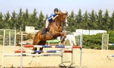 Fischer durante uma prática com o cavalo Ralph: atleta, de 19 anos, faleceu após queda em salto Foto: Reprodução/Facebook