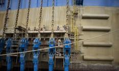 Incertezas: No Rio, o estaleiro Brasa sente os efeitos da falta de novas encomendas. No resto do Brasil, especialistas lembram que um fracasso no processo de recuperação judicial da Sete Brasil pode piorar de vez números do setor Foto: Márcia Foletto / Agência O Globo
