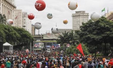 Centrais vão às ruas neste domingo Foto: Sigmapress/Estadão / Mariana Topfstedt