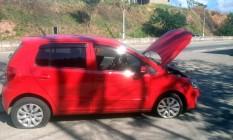 O carro recuperado pela polícia Foto: Divulgação / PRF