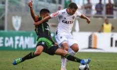 América e Atlético na primeira partida da final do Campeonato Mineiro: vitória americana por 2 a 1 Foto: Divulgação